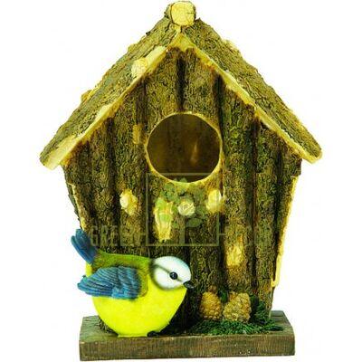 Купить  Скворечник  Птичий домик с синичкой  в интернет-магазине Green Decor.
