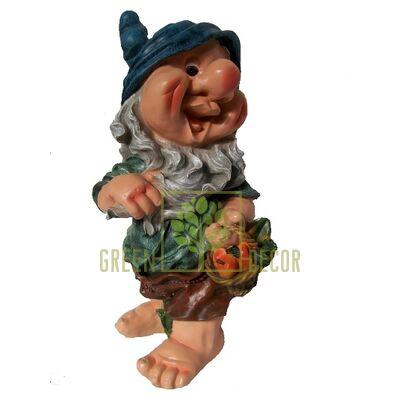 Купить  Фигура ГНОМ с корзинкой  в интернет-магазине Green Decor.
