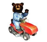 Фигурка Мишка садовник на тракторе 36 см