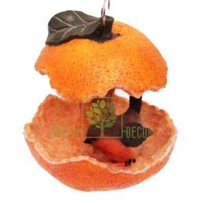 Купить  Кормушка Апельсин с птичкой  в интернет-магазине Green Decor.