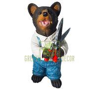 Фигурка Мишка садовник с секатором 36 см