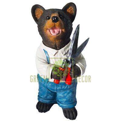 Купить  Фигурка Мишка садовник с секатором 75 см  в интернет-магазине Green Decor.