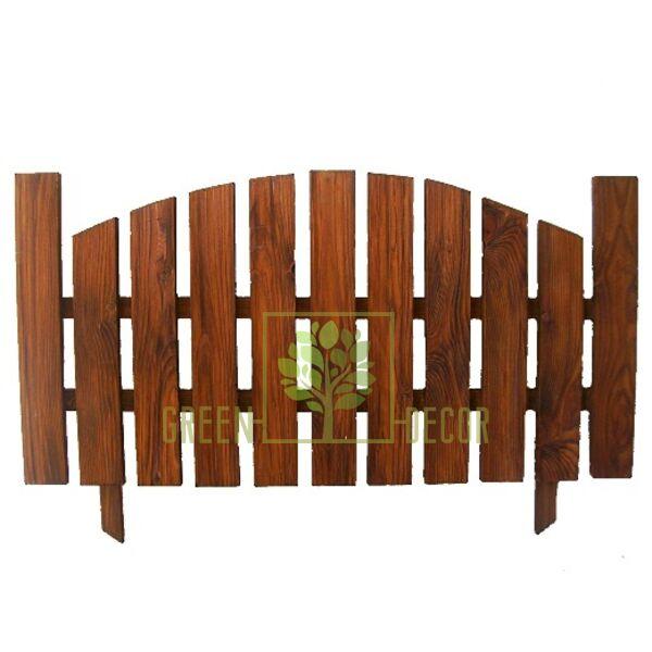 Садовый заборчик из дерева