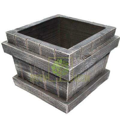 Купить  Кашпо ДЕРЕВО maxi серый  в интернет-магазине Green Decor.
