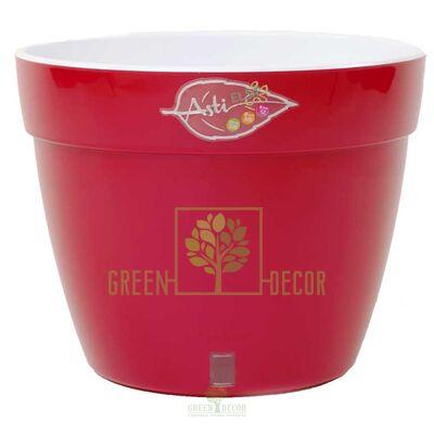 Купить  Вазон ASTI 2,5 л. красный-белый  в интернет-магазине Green Decor.