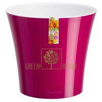 Горшок для цветов АРТЕ 5 л пурпурный-белый