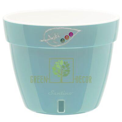 Горшок для цветов ASTI 2,5 л. ментолово-белый с автополивом