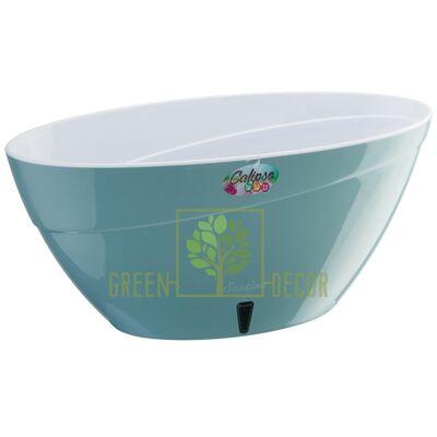 Купить  Вазон CALIPSO 3,8 л. нефрит-белый  в интернет-магазине Green Decor.