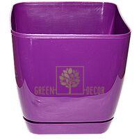 Горшок для цветов Тоскана Квадро-11 1 л фиолетовый