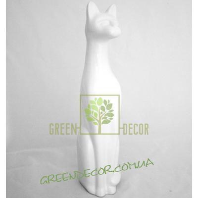 Купить  Кот белый глянец 5  в интернет-магазине Green Decor.