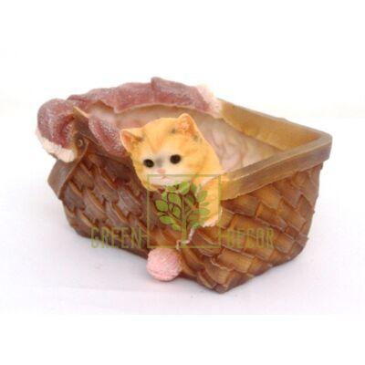 Купить  Корзина с котенком  в интернет-магазине Green Decor.