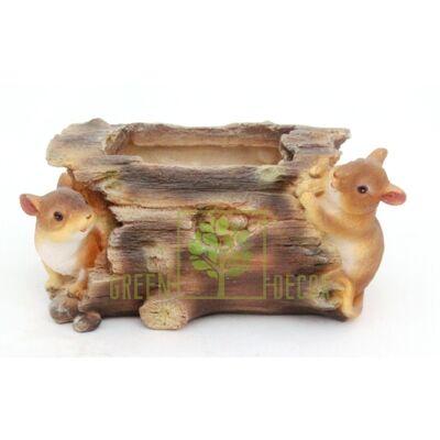 Купить  Мышки на бревне  в интернет-магазине Green Decor.