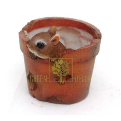 Кашпо для цветов Бурундучок в горшке - оригинальный подарок для родных и близких