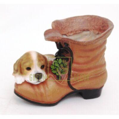 Кашпо для цветов Ботинок со щенком - оригинальный подарок для родных и близких