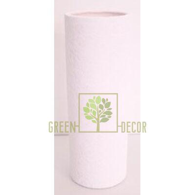Купить  Ваза ЦИЛИНДР Белый КРОКОДИЛ  в интернет-магазине Green Decor.