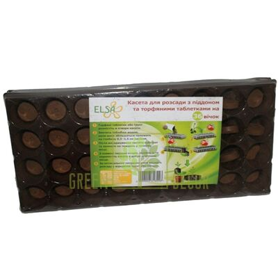 Купить  Кассета с поддоном и таблетками на 36 ячеек  в интернет-магазине Green Decor.