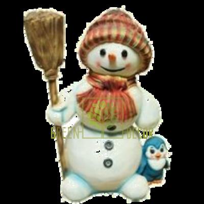 Новогодняя фигурка Снеговик с метлой - оригинальный подарок на Новый Год 2016