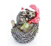 Ёжики мама с малышом новогодние