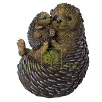 Фигурка садовая Ежики мама с малышом 2