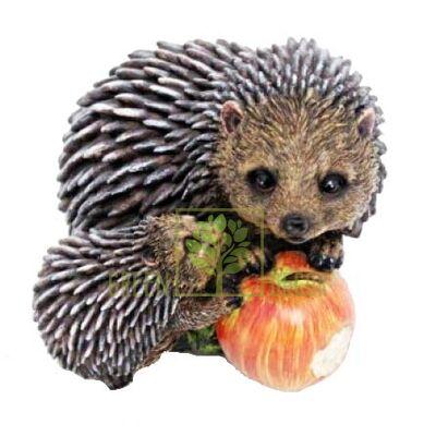 Фигурка садовая Ежики с яблоком