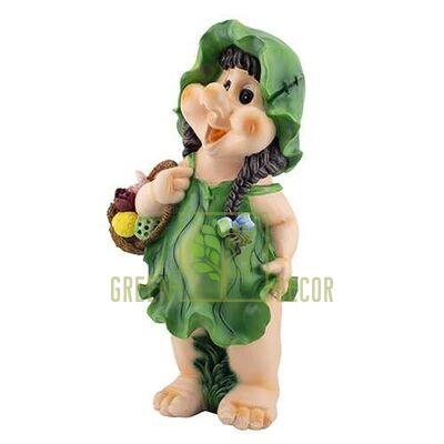 Садовая фигура ГНОМ Девочка с корзинкой 3