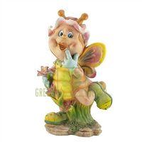 Садовая фигура Улитка с цветком