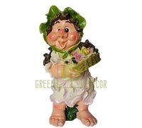 Садовая фигура ГНОМ Девочка с цветами