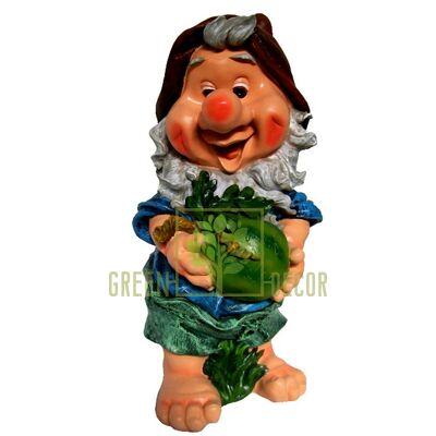Фигура садовая ГНОМ с арбузом