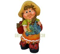 Садовая фигура ГНОМ Девочка с лейкой