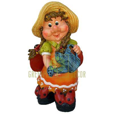Фигура садовая ГНОМ Девочка с лейкой