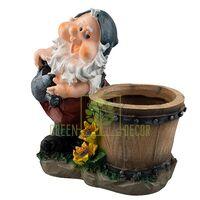 Садова фігура Гном з діжкою
