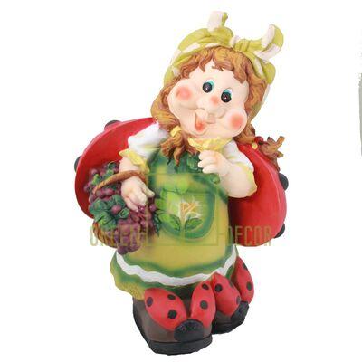 Фигура для сада Гномик с корзиной черники