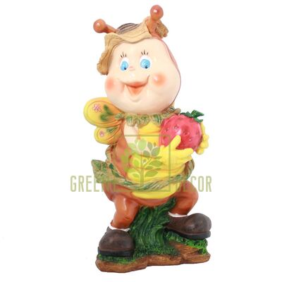 Фигура для сада Улитка с клубникой