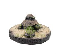 Фігурка для водойми Черепахи на деревині