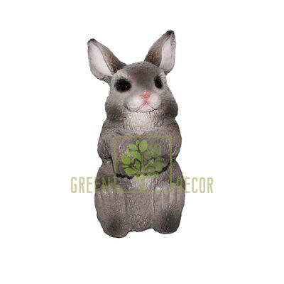 Фігурка-декор для квіткового горщика Кролик-1 сірий