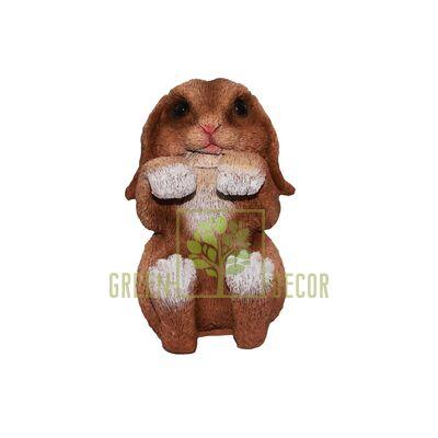 Фигурка-декор для цветочного горшка Кролик-2 рыжий