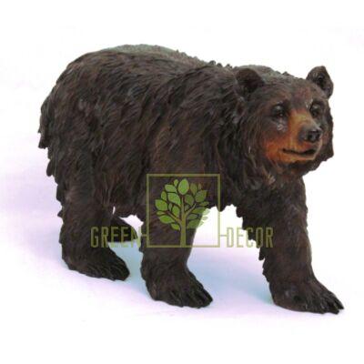 Фигурка садовая Медведь черный