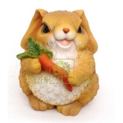 Садова фігурка Заєць з морквою M