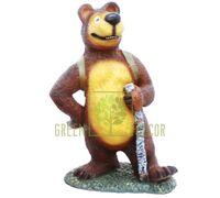 Фигурка садовая Медведь с корзинкой