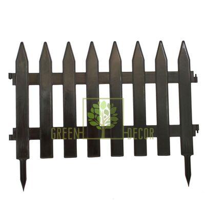 Садовая оградка коричневая 46*36 см