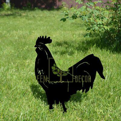 Садовый декор из металла Петух
