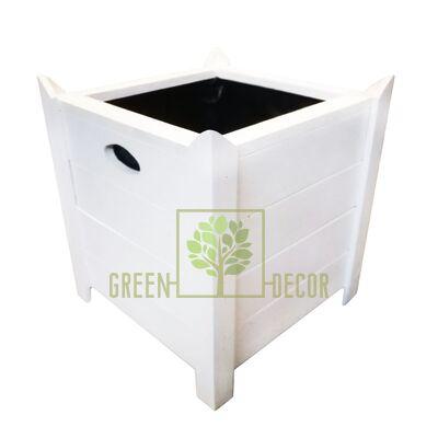 Дерев'яні Кашпо GRAND maxi білий від Україна  Green Decor