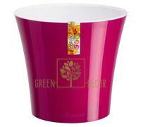 Горшок для цветов АРТЕ 3,5 л пурпурный-белый