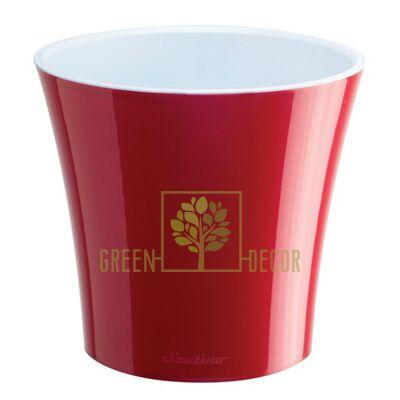 Горшок для цветов АРТЕ 3,5 л красный-белый
