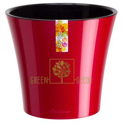 Горшок для цветов АРТЕ 1,2 л красный-черный