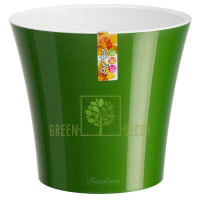 Горшок для цветов АРТЕ 3,5 л зеленое-золото-белый