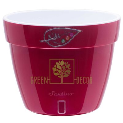 ASTI Вазон ASTI 18 л красный-белый от Santino  Green Decor