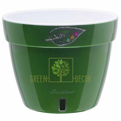 ASTI Вазон ASTI 18 л зеленое-золото-белый от Santino |Green Decor