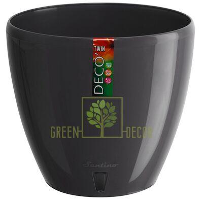 Горшок для цветов DECO-TWIN 5,8 л антрацит