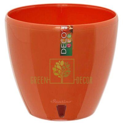 Горшок для цветов DECO-TWIN 4 л морковный